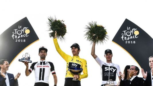 Tour de France: le trophée de Geraint Thomas volé