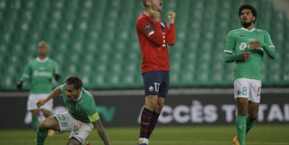Foot - L1 - Ligue 1:  Lille freiné à Saint-Etienne