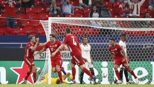 Foot:  le Bayern bat le FC Séville en Super Coupe d'Europe