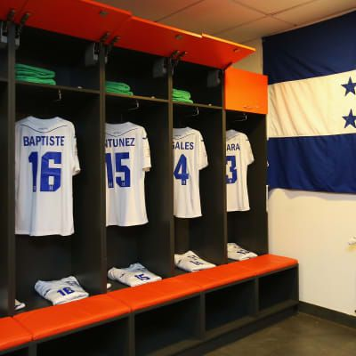 A general view of the Honduras change room