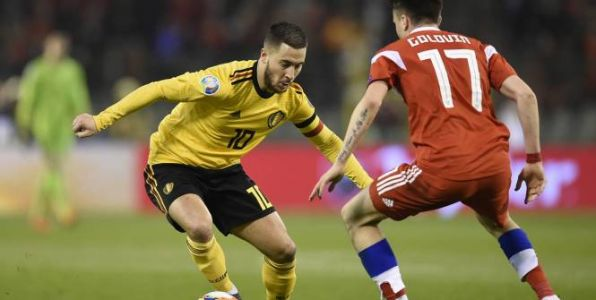 Foot - Euro - Qualifications Euro 2020:  Eden Hazard porte la Belgique face à la Russie