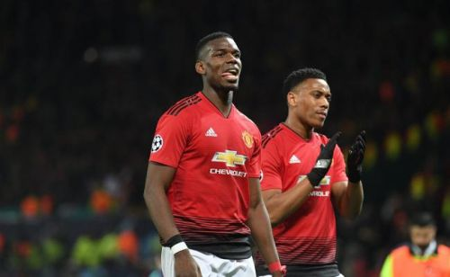 Premier League:  Paul Pogba et Anthony Martial titulaires avec Manchester United contre Everton