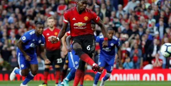 Foot - ANG - Paul Pogba marque le premier but de la saison en Premier League